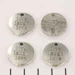 bedeltje live laugh love - zilver