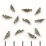 bedel vleugel engel - zilver