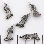 kerstbedel kerstsok - zilver