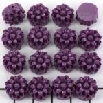 bloemetje 12 mm - oud paars