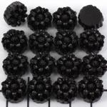 little flower 12 mm - black