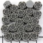 bloemetje 10 mm - titanium