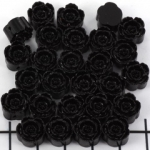 bloemetje 10 mm - zwart