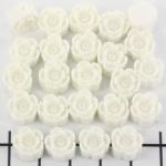 bloemetje 10 mm - gebroken wit