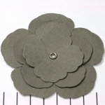leren bloem - grijs