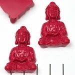 meditation buddha sitting - donkerroze fushia