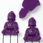 meditation buddha sitting - paars