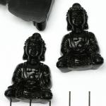 meditation buddha sitting - zwart