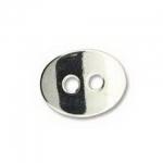 gebogen knoop 14 mm - zilver