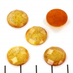 cabochon facet 13.5 mm - oranje