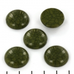 cabochon crackle effect 20 mm - groen