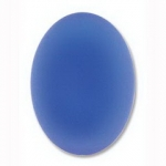 Lunasoft cabochon ovaal 25 mm - blueberry
