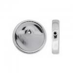 Lunasoft cabochon 18 mm round - silver