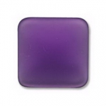 Lunasoft cabochon 17 mm vierkant - grape