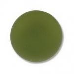 Lunasoft cabochon 18 mm round - olive