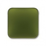Lunasoft cabochon 17 mm vierkant - olive