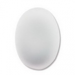 Lunasoft cabochon oval 25 mm - pearl