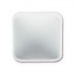 Lunasoft cabochon 17 mm vierkant - pearl