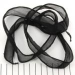 zijden lint - zwart