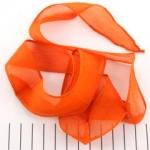 silk ribbon - orange rust