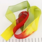 zijden lint - rood geel groen