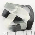 zijden lint - zwart grijs wit