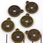 chinese muntjes - antiek koper 19 mm