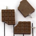 afgebeten reep - pure chocolade