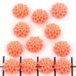 bloem chrysant 10 mm - oranje zalm