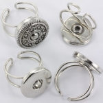 buttons ring verstelbaar - lichtzilver
