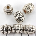 cylinder cheerful striped - antique silver