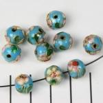 Cloisonné rond - turquoise
