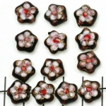 Cloisonné plat bloem - paars