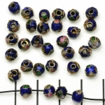 Cloisonné rond 5 mm - donkerblauw