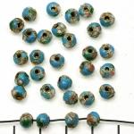 Cloisonné round 5 mm - turquoise