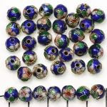 Cloisonné rond 8 mm - donkerblauw