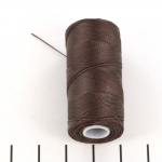c-lon micro bead cord 0.3 mm - chocolate