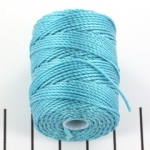c-lon bead cord tex 400 0.9mm - aqua
