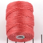 c-lon bead cord tex 400 0.9mm - chinese coral