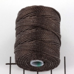 c-lon bead cord tex 400 0.9mm - chocolate