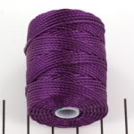 c-lon bead cord tex 400 0.9mm - grape paars