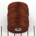 c-lon bead cord tex 400 0.9mm - mahogany