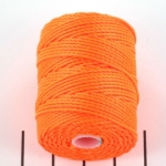 c-lon bead cord tex 400 0.9mm - neon orange