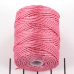 c-lon bead cord tex 400 0.9mm - pink