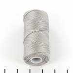 c-lon fine weight bead cord 0.4mm - argentum