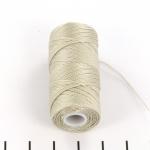 c-lon fine weight bead cord 0.4mm - beige