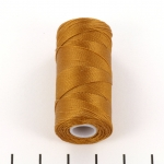 c-lon fine weight bead cord 0.4mm - gold
