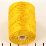 c-lon fine weight bead cord 0.4mm - golden yellow