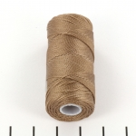 c-lon fine weight bead cord 0.4mm - sable