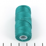 c-lon fine weight bead cord 0.4mm - teal